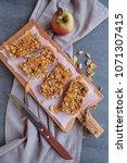 healthy homemade snacks   apple ... | Shutterstock . vector #1071307415