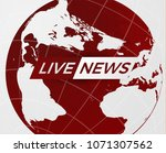 live news gray background with...   Shutterstock .eps vector #1071307562