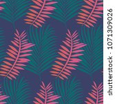 seamless pattern of tropical... | Shutterstock .eps vector #1071309026