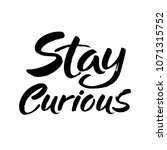 hand drawn lettering. ink... | Shutterstock .eps vector #1071315752