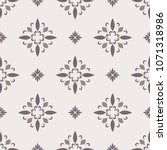 abstract ornamental vector... | Shutterstock .eps vector #1071318986