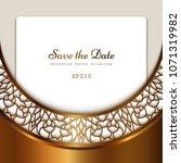 vintage gold vector background  ... | Shutterstock .eps vector #1071319982