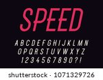 speed think decorative font... | Shutterstock .eps vector #1071329726