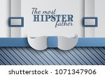 happy fathers day greeting card ... | Shutterstock .eps vector #1071347906