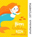 cartoon style vector card with...   Shutterstock .eps vector #1071348956