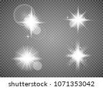 set. shining star  the sun... | Shutterstock .eps vector #1071353042