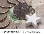 a quarter of new hampshire ...   Shutterstock . vector #1071363122