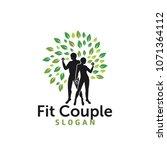 couple wellness logo | Shutterstock .eps vector #1071364112