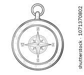 compass. hand drawn sketch.... | Shutterstock .eps vector #1071370802