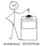 cartoon stick man drawing... | Shutterstock .eps vector #1071379226