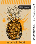 fresh pineapple design template.... | Shutterstock .eps vector #1071382175