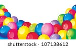 bright colorful balloons - stock vector