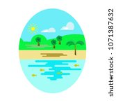 vector summer or spring... | Shutterstock .eps vector #1071387632