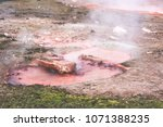 traveling at hot spring in... | Shutterstock . vector #1071388235
