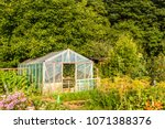 eco vegetable garden with... | Shutterstock . vector #1071388376