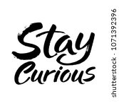 hand drawn lettering. ink... | Shutterstock .eps vector #1071392396