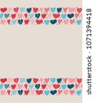 background with cute hand drawn ... | Shutterstock .eps vector #1071394418