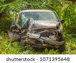 car damage from accident  car... | Shutterstock . vector #1071395648