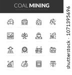 outline black icons set in thin ... | Shutterstock .eps vector #1071395696