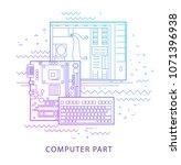 computer hardware repair.... | Shutterstock .eps vector #1071396938