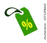 discount percent sign  vector... | Shutterstock .eps vector #1071398642
