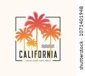 california ocean avenue tee... | Shutterstock .eps vector #1071401948