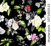seamless floral background... | Shutterstock .eps vector #1071403115