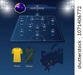 team australia soccer jersey or ... | Shutterstock .eps vector #1071406772