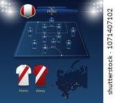 team peru soccer jersey or... | Shutterstock .eps vector #1071407102