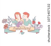 happy family. family day. ... | Shutterstock .eps vector #1071407132