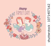 happy family. family day. ... | Shutterstock .eps vector #1071407162