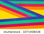 graphic art with papers. | Shutterstock . vector #1071408428