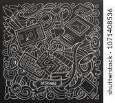 cartoon vector doodles art and... | Shutterstock .eps vector #1071408536