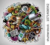 cartoon vector doodles art and... | Shutterstock .eps vector #1071408542