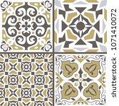 vector set of ornaments for... | Shutterstock .eps vector #1071410072