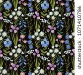 vector seamless floral pattern. ... | Shutterstock .eps vector #1071410786
