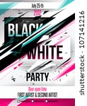 party poster template. vector | Shutterstock .eps vector #107141216