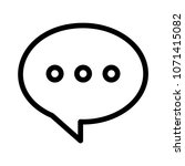 chat bubble message  | Shutterstock .eps vector #1071415082