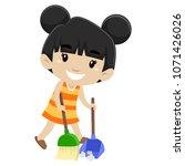 vector illustration of a little ... | Shutterstock .eps vector #1071426026