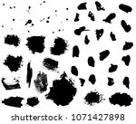 set of black ink vector stains. ... | Shutterstock .eps vector #1071427898