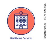 healthcare related offset style ... | Shutterstock .eps vector #1071428456