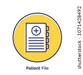 patient related offset style... | Shutterstock .eps vector #1071428492