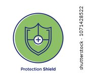 protection related offset style ... | Shutterstock .eps vector #1071428522