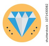 diamond flat and line icon   | Shutterstock .eps vector #1071430082