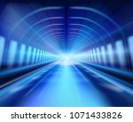 long tunnel. the effect of... | Shutterstock .eps vector #1071433826