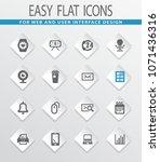 office flat icons for user... | Shutterstock .eps vector #1071436316