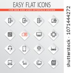 mobile connection flat icons... | Shutterstock .eps vector #1071444272
