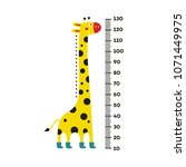 giraffe cartoon character with... | Shutterstock .eps vector #1071449975