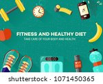 sports and healthy lifestyle... | Shutterstock .eps vector #1071450365