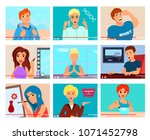 popular video bloggers 9 flat... | Shutterstock .eps vector #1071452798